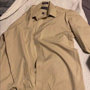 Beige button up shirt